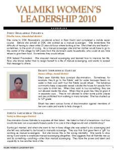 VALMIKI WOMEN S LEADERSHIP 2010