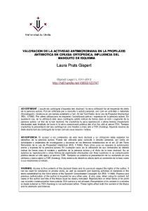VALORACION DE LA ACTIVIDAD ANTIMICROBIANA EN LA PROFILAXIS ANTIBIOTICA EN CIRUGIA ORTOPEDICA. INFLUENCIA DEL MANGUITO DE ISQUEMIA