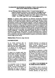 VALORACION DE OPCIONES DE COMPRA Y VENTA DEL QUINTAL DE SOYA EN EL MERCADO ECUATORIANO
