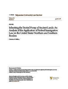 Valparaiso University Law Review. Catherine E. Halliday. Volume 36 Number 1. pp Fall Recommended Citation