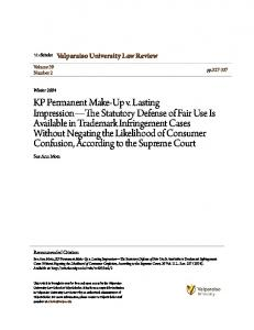 Valparaiso University Law Review. Sue Ann Mota. Volume 39 Number 2. pp Winter Recommended Citation