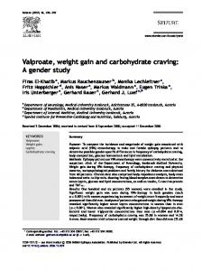 Valproate, weight gain and carbohydrate craving: A gender study