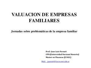 VALUACION DE EMPRESAS FAMILIARES
