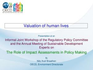 Valuation of human lives