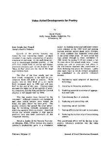 Value Added Developments for Poultry