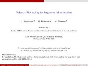 Value-at-Risk scaling for long-term risk estimation