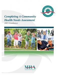 VALUE. Completing A Community Health Needs Assessment 2015 Guidance