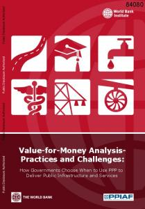Value-for-Money Analysis- Practices and Challenges: