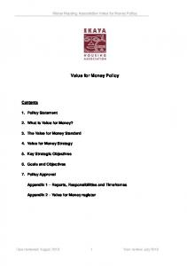 Value for Money Policy