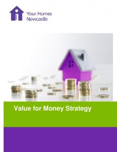 Value for Money Strategy