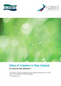Value of irrigation in New Zealand