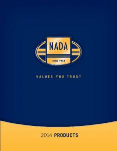 VALUES YOU TRUST 2014 PRODUCTS