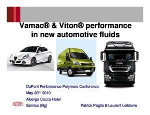 Vamac & Viton performance in new automotive fluids