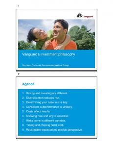 Vanguard s investment philosophy