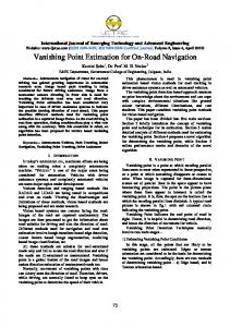 Vanishing Point Estimation for On-Road Navigation