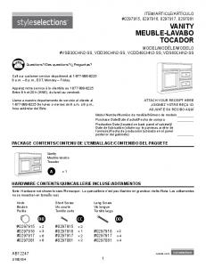 VANITY MEUBLE-LAVABO TOCADOR