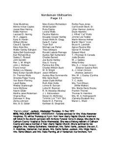 Vardaman Obituaries Page 11