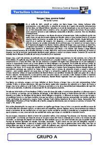 Vargas Llosa, premio Nobel Por Carlos Fuentes