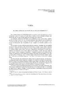 VARIA EL TAPIZ, ESPEJO DE LA AVENTURA: SU REFLEJO AMERICANO *