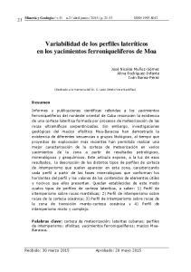 Variabilidad de los perfiles lateríticos en los yacimientos ferroniquelíferos de Moa