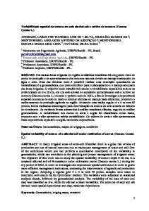 Variabilidade espacial da textura em solo aluvial sob o cultivo de cenoura (Daucus Carota L.)
