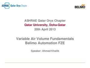 Variable Air Volume Fundamentals Belimo Automation FZE