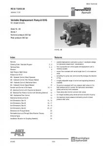 Variable Displacement Pump A10VG for closed circuits
