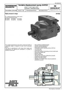 Variable displacement pump A4VSO