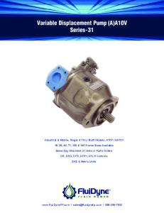 Variable Displacement Pump (A)A10V Series-31