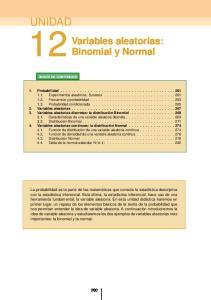 Variables aleatorias: Binomial y Normal