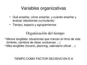Variables organizativas
