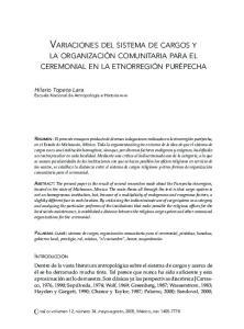 VARIACIONES DEL SISTEMA DE CARGOS Y