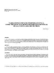 VARIACIONES ESPACIO-TEMPORALES EN LA COMUNIDAD DE MACROINVERTEBRADOS BENTICOS DE LA CUENCA DEL RIO BUTRON