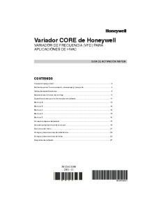 Variador CORE de Honeywell VARIADOR DE FRECUENCIA (VFD) PARA APLICACIONES DE HVAC