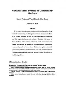 Variance Risk Premia in Commodity Markets