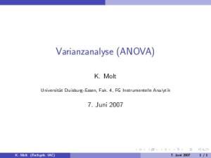 Varianzanalyse (ANOVA)