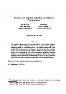 Variation of Implied Volatility and Return Predictability