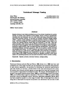 Variational Message Passing