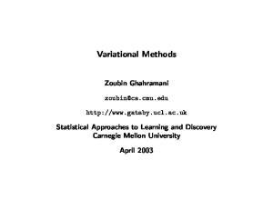 Variational Methods. Zoubin Ghahramani