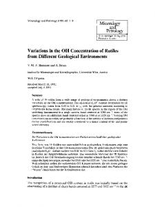 Variations in the OH Concentration of Rutiles from Different Geological Environments