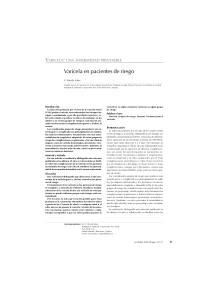 Varicela en pacientes de riesgo