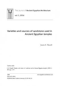 Varieties and sources of sandstone used in Ancient Egyptian temples