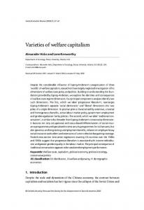 Varieties of welfare capitalism