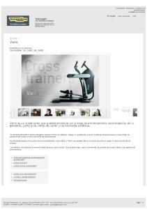 Vario. Excite + Technogym. The Wellness Company Productos y servicios para descubrir el Wellness con el ejercicio físico