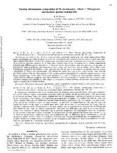 Varying chromosome composition of 56-chromosome wheat x Thinopyrum intermedium partial amphiploids