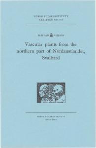 Vascular plants from the northern part of Nordaustlandet, Svalbard