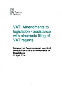 VAT: Amendments to legislation - assistance with electronic filing of VAT returns