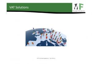 VAT Solutions. MFFA Belastingadvies Tax Advice