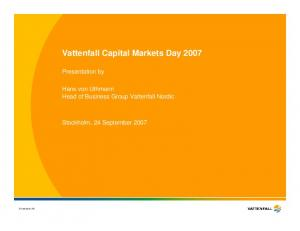 Vattenfall Capital Markets Day 2007