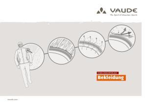 vaude.com SCHULUNGSUNTERLAGE Bekleidung